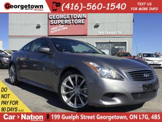 Used 2008 Infiniti G37 Sport | 6 SPEED | LEATHER | ROOF | NAVI | BU CAM for sale in Georgetown, ON