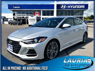 Used 2017 Hyundai Elantra Turbo Sport Tech - Low kms / Loaded for sale in Port Hope, ON