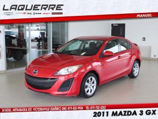 Used 2011 Mazda MAZDA3 2011 Mazda Mazda3 - 4dr Sdn Man GX for sale in Victoriaville, QC