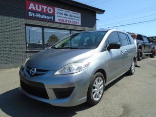 Used 2010 Mazda MAZDA5 GS ** 6 PLACES ** for sale in St-Hubert, QC