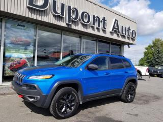 Used 2018 Jeep Cherokee Trailhawk cuir 4x4 for sale in Alma, QC