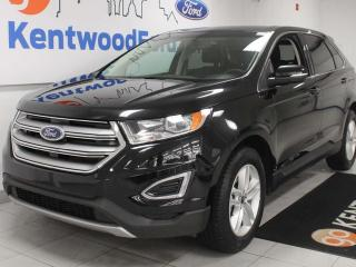 Used 2018 Ford Edge SEL AWD with heated power seats, push start/stop, back up cam and power rear seats for sale in Edmonton, AB