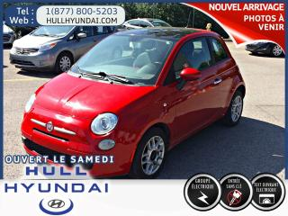 Used 2012 Fiat 500 Pop Toit ouvrant Intérieur Rouge !!! for sale in Gatineau, QC