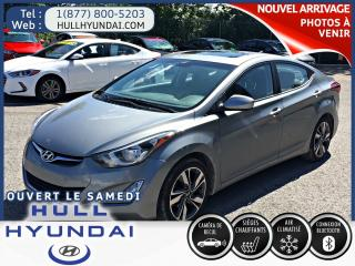 Used 2016 Hyundai Elantra GLS TOIT OUVRANT ET CAMÉRA DE RECUL !!! for sale in Gatineau, QC