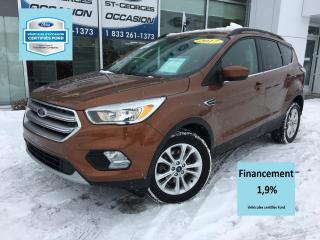 Used 2017 Ford Escape SE AWD 200A CERTIFIÉ FORD TAUX 1.9% 72 M for sale in St-Georges, QC