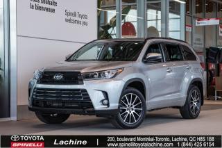 Used 2018 Toyota Highlander SE - AWD TRÈS ÉQUIPÉ! AWD! CUIR! GPS! DÉMARREUR À DISTANCE! BLUETOOTH! MAGS! TOIT OUVRANT! SUPER PRIX! for sale in Lachine, QC