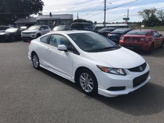 Used 2012 Honda Civic EX Coupe W/ New Tires & Brakes! for sale in Truro, NS