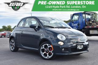 Used 2016 Fiat 500 Sport - Low Kms, Well Maintained and Equipped, Gre for sale in London, ON