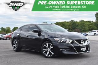 Used 2016 Nissan Maxima Platinum - Sunroof, Bluetooth, Sat Radio, Blindspo for sale in London, ON