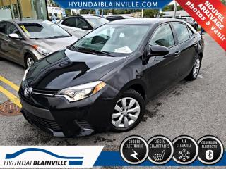 Used 2016 Toyota Corolla LE DÉMARREUR DISTANCE, BLUETOOTH for sale in Blainville, QC