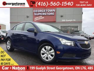 Used 2012 Chevrolet Cruze LT Turbo | BLUETOOTH | POWER OPTIONS | AUX IN | for sale in Georgetown, ON