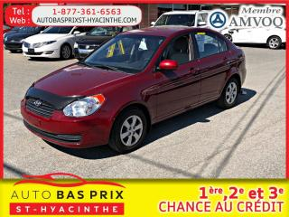 Used 2010 Hyundai Accent GL for sale in St-Hyacinthe, QC