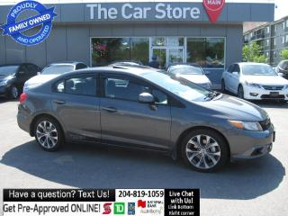 Used 2012 Honda Civic Si - sunroof NAVIGATION- HTD SEAT local MB CAR! for sale in Winnipeg, MB