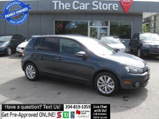 Used 2012 Volkswagen Golf TDI Comfortline diesel BLUETOOTH htd seat LIKE NEW for sale in Winnipeg, MB