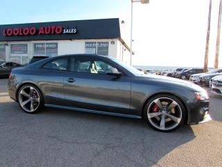 Used 2013 Audi RS 5 RS5 4.2 Coupe Quattro S Tronic NAVI CAMERA CERTIFIED for sale in Milton, ON
