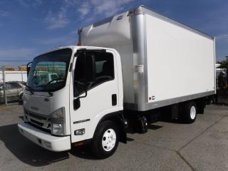 Used 2016 Isuzu NPR Cube Van 16 foot Diesel Power tailgate and Ramp for sale in Burnaby, BC