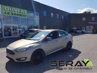 Used 2016 Ford Focus SE, camera de recul, cuir, bluetooth, for sale in Chambly, QC