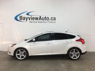 Used 2014 Ford Focus Titanium - SYNC! HTD LEATHER! SUNROOF! ALLOYS! 46,000KMS! for sale in Belleville, ON