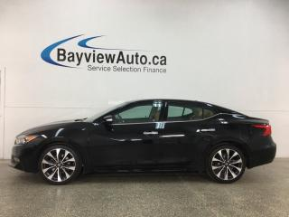 Used 2017 Nissan Maxima SR - HTD/COOLED LEATHER! NAV! BLACK BEAUTY! for sale in Belleville, ON