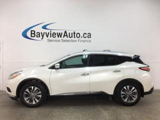 Used 2016 Nissan Murano SL - AWD! HTD LEATHER! PANOROOF! NAV! NISSAN CONNECT! + MUCH MORE! for sale in Belleville, ON