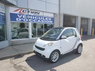 Used 2009 Smart fortwo PURE AUTO A/C TOIT AVEC BAS KM for sale in St-Hubert, QC