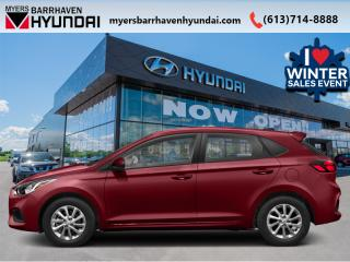 New 2020 Hyundai Accent Preferred Manual  - Aluminum Wheels - $116 B/W for sale in Nepean, ON