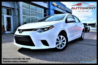 Used 2014 Toyota Corolla 1.8L + BLUETOOTH + CRUISE CONTROL for sale in Mont-Laurier, QC