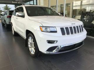 Used 2015 Jeep Grand Cherokee SUMMIT 4WD, KEYLESS IGNITION, NAVI, HEATED STEERING WHEEL for sale in Edmonton, AB