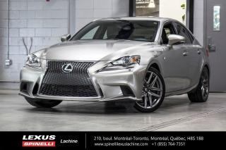 Used 2015 Lexus IS 350 F SPORT II AWD; CUIR TOIT GPS ANGLES MORTS VERSION F SPORT - MOTEUR 3.5L À 306 CHEVAUX - NAVIGATION - MONITEUR ANGLES MORT - CAMÉRA DE RECUL for sale in Lachine, QC