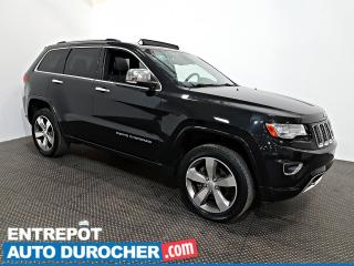Used 2014 Jeep Grand Cherokee Overland AWD NAVIGATION - Toit Ouvrant - A/C- Cuir for sale in Laval, QC