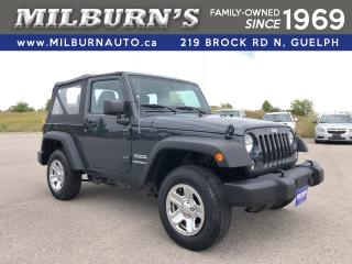 Used 2017 Jeep Wrangler Sport 4X4 for sale in Guelph, ON