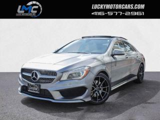 Used 2015 Mercedes-Benz CLA-Class CLA250 4MATIC AMG SPORT PKG-PANOROOF-BACKUPCAM-BLINDSPOT-NAV for sale in Toronto, ON