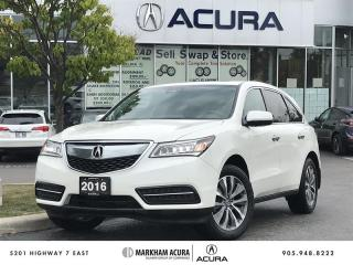Used 2016 Acura MDX Navi SH-AWD, 3.5L V6 290HP, Power Liftgate for sale in Markham, ON