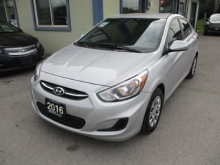 Used 2016 Hyundai Accent GAS SAVING SE MODEL 5 PASSENGER 1.6L - DOHC.. ACTIVE-ECO PACKAGE.. HEATED SEATS.. CD/AUX/USB INPUT.. KEYLESS ENTRY.. for sale in Bradford, ON