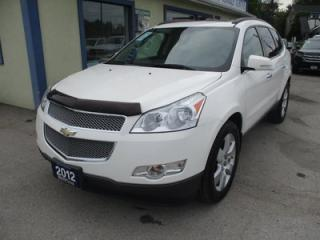 Used 2012 Chevrolet Traverse ALL-WHEEL DRIVE LTZ EDITION 7 PASSENGER 3.6L - V6.. CAPTAINS.. THIRD ROW.. LEATHER.. HEATED/AC SEATS.. DVD.. BACK-UP CAMERA.. DVD PLAYER.. for sale in Bradford, ON