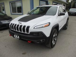 Used 2018 Jeep Cherokee LOADED TRAIL-HAWK MODEL 5 PASSENGER 3.2L - V6.. 4X4.. NAVIGATION.. LEATHER.. HEATED/AC SEATS.. BACK-UP CAMERA.. PANORAMIC SUNROOF.. BLUETOOTH.. for sale in Bradford, ON