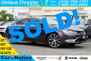 Used 2015 Chrysler 200 C| SUN & SOUND GRP| NAV| HID| LED| PREMIUM GRP for sale in Burlington, ON