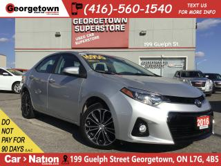 Used 2016 Toyota Corolla S | SUNROOF | HEATED SEATS | B/U CAM | 6 SPEED for sale in Georgetown, ON