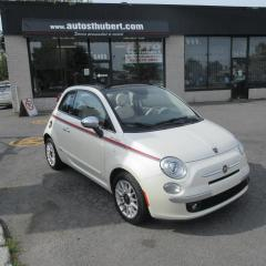 Used 2013 Fiat 500 C 500C LOUNGE CABRIOLET ** 35 000 KM ** for sale in St-Hubert, QC