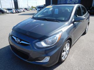 Used 2013 Hyundai Accent GLS,A/,TOIT,BANC CHAUFF,BLUETOOTH,CRUISE for sale in Mirabel, QC