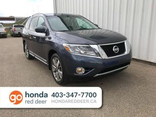 Used 2014 Nissan Pathfinder Platinum 4WD Heated Seats Sunroof for sale in Red Deer, AB
