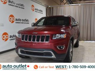 Used 2015 Jeep Grand Cherokee Limited, 3.6L V6, Leather heated seats, Heated steering wheel, Backup camera, Sunroof, Bluetooth for sale in Edmonton, AB