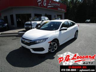 Used 2016 Honda Civic Lx automatique bas millage for sale in St-Prosper, QC