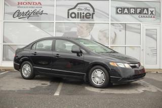 Used 2008 Honda Civic DX-G ***RAPPORT CARPROOF DISPONIBLE*** for sale in Québec, QC