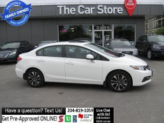 Used 2013 Honda Civic EX sunroof HTD SEAT bluetooth BACKCAM local!! for sale in Winnipeg, MB