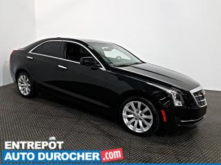 Used 2018 Cadillac ATS Sedan AWD Automatique - AIR CLIMATISÉ - CUIR for sale in Laval, QC