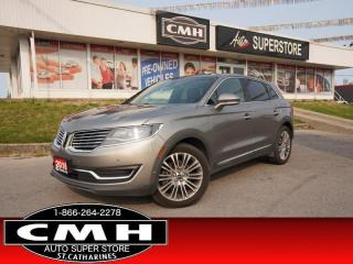 Used 2016 Lincoln MKX Reserve  NAV ADAP-CC LANE-KEEP DVD ROOF CAM for sale in St. Catharines, ON
