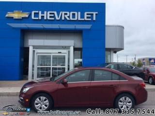 Used 2015 Chevrolet Cruze LT Turbo  - Bluetooth -  SiriusXM - $106 B/W for sale in Bolton, ON