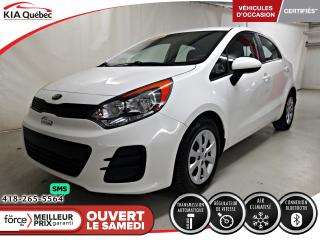Used 2016 Kia Rio LX+* 5 PORTES* AT* A/C* BLUETOOTH* for sale in Québec, QC