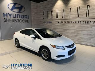 Used 2012 Honda Civic LX+COUPÉ+MANUELLE+MAGS+A/C+BLUETOOTH for sale in Sherbrooke, QC